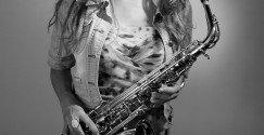 Fotoshoot met je instrument - Saxofoon